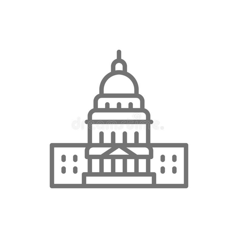 美国国会大厦,著名美国建筑限界象 皇族释放例证
