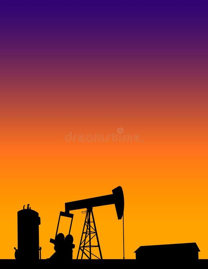美国国内油气产业概念背景 免版税库存照片