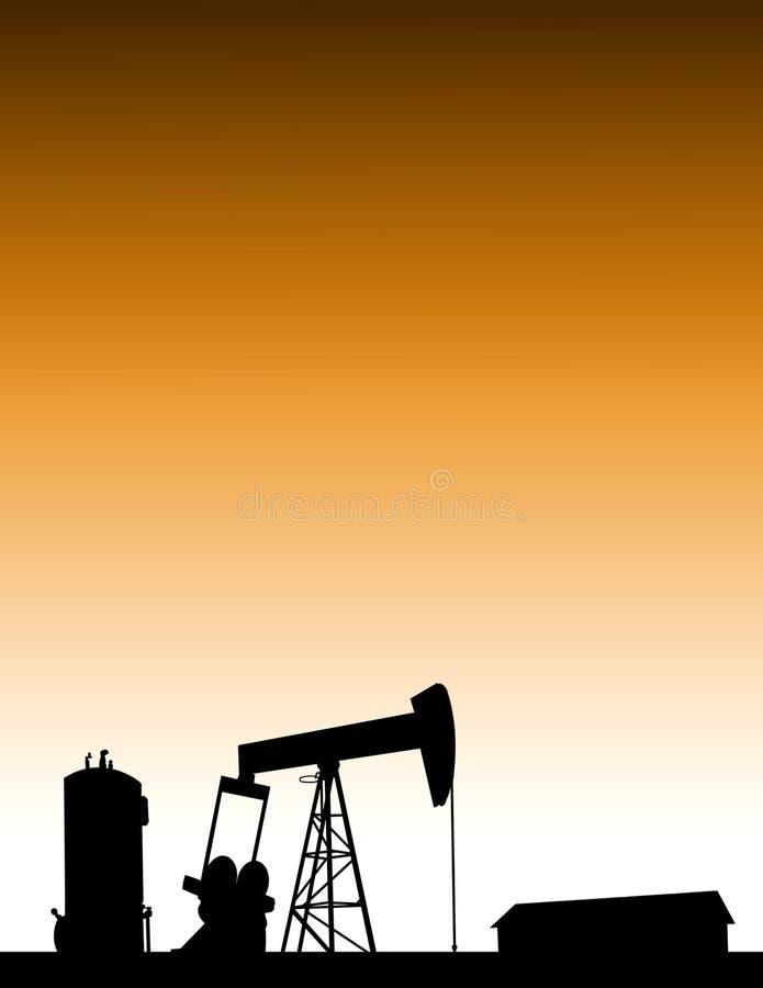 美国国内油气产业概念背景 图库摄影