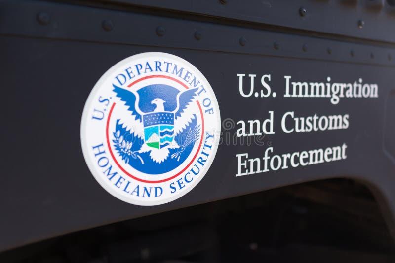 美国国土安全部商标 库存图片