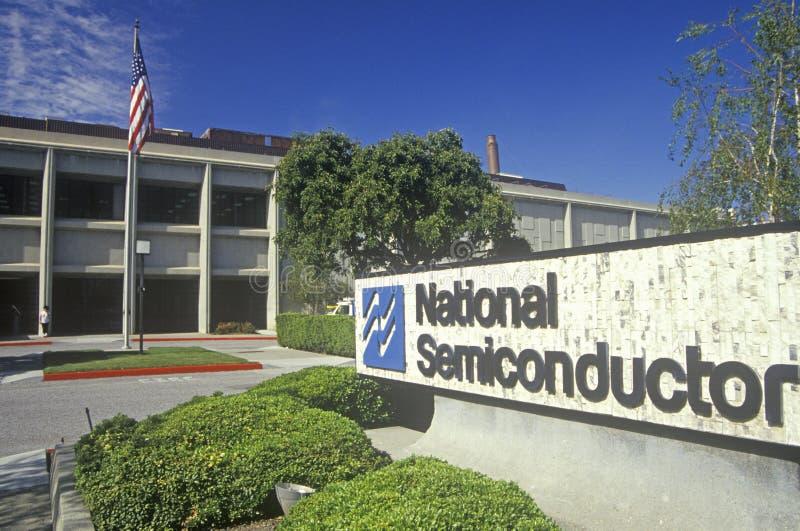 美国国家半导体大厦,高科技企业在森尼韦尔,加利福尼亚 免版税库存照片