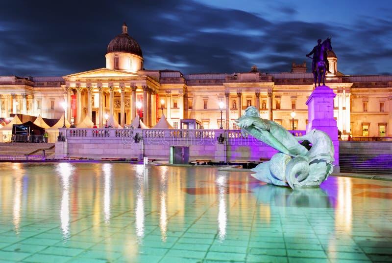 美国国家艺廊,特拉法加广场,伦敦 图库摄影