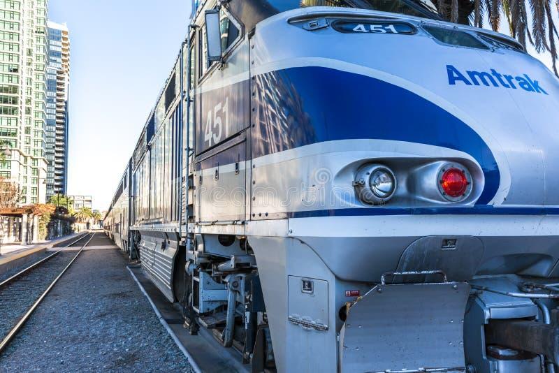 美国国家铁路公司火车 库存图片