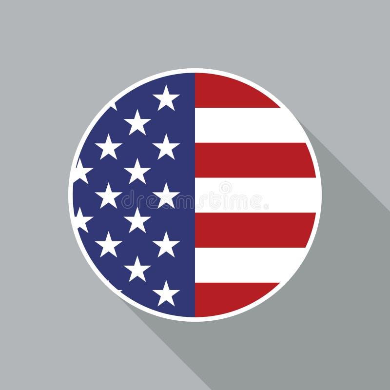 美国国旗传染媒介平的象 皇族释放例证