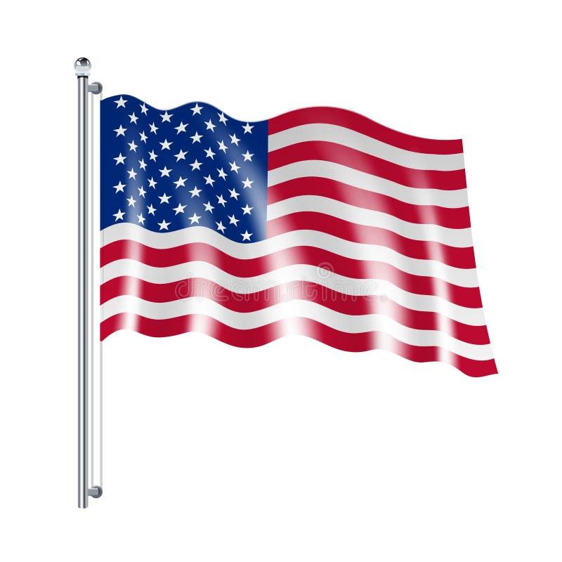 美国国旗例证 皇族释放例证