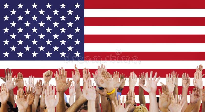 美国国旗国籍自由国家概念 免版税库存图片