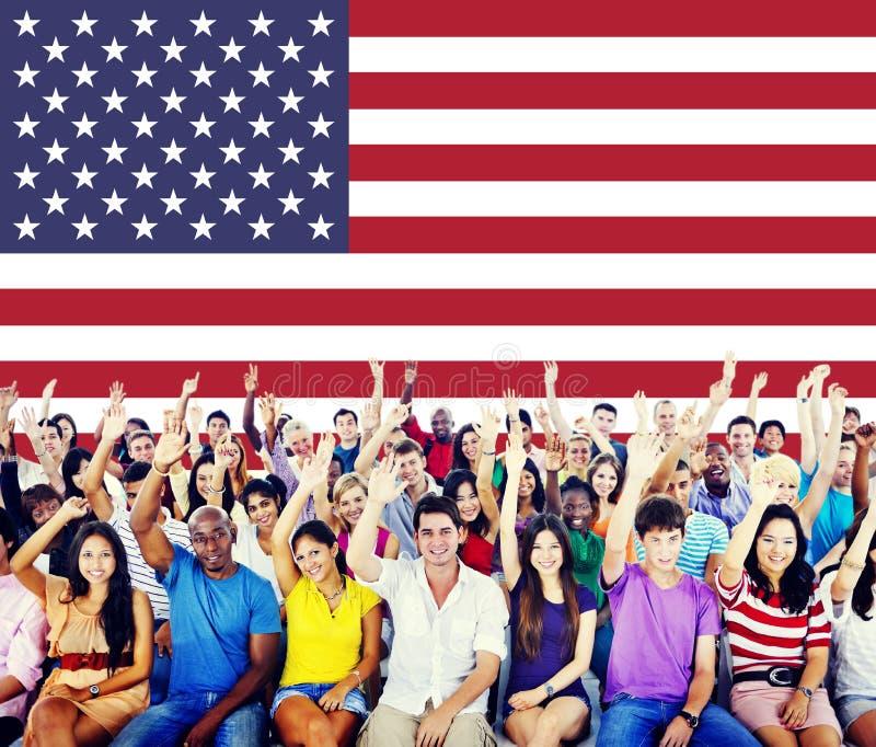 美国国旗国籍自由国家概念 库存照片