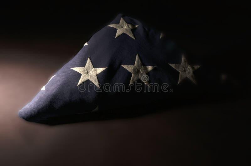 美国国旗在Memoriam 库存照片