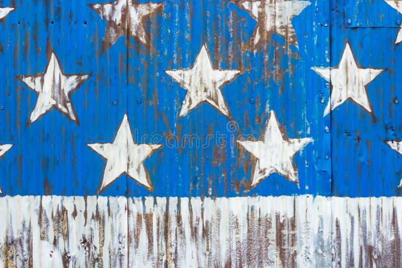 美国国旗星 库存图片