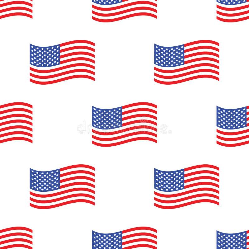 美国国旗样式 向量例证