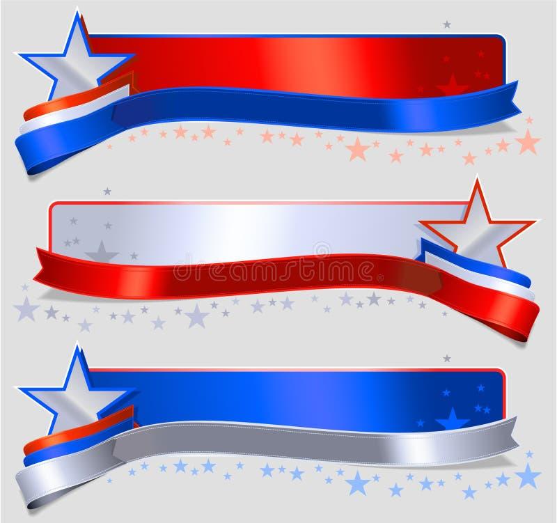 美国国旗横幅 向量例证