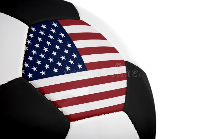 美国国旗橄榄球 库存图片
