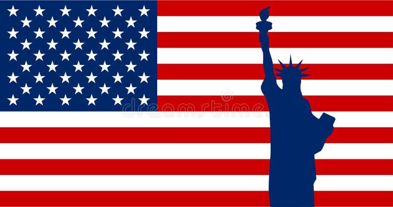 美国国旗的传染媒介图象 皇族释放例证