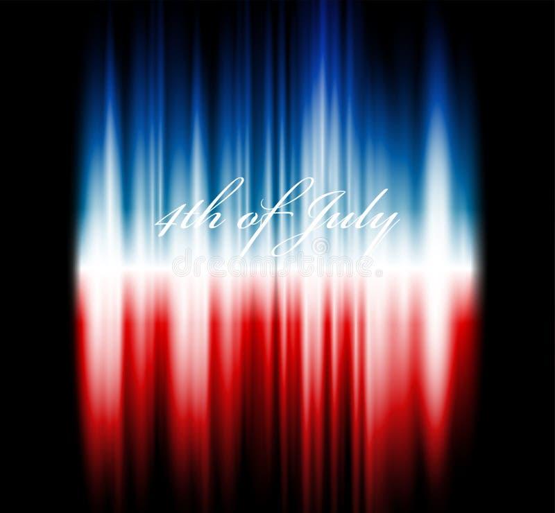 美国国旗的传染媒介图象 库存例证