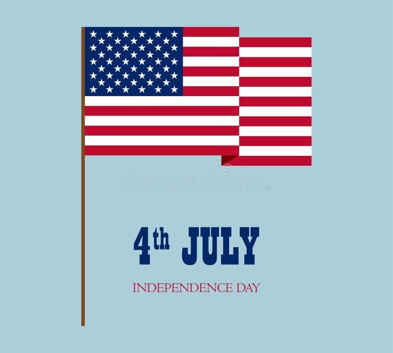 美国国旗的传染媒介图象 向量例证