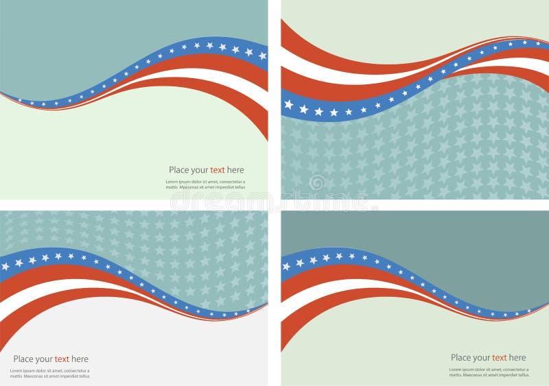 美国国旗的抽象例证 皇族释放例证
