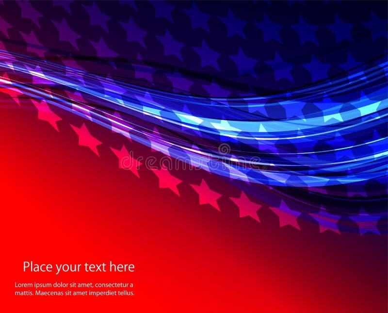 美国国旗的抽象例证 库存例证