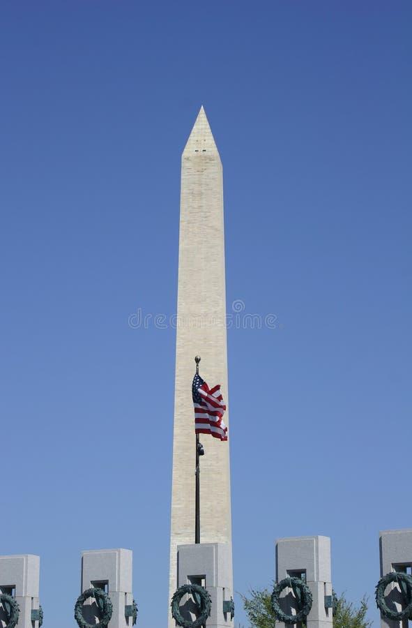 美国国旗纪念碑华盛顿 库存图片