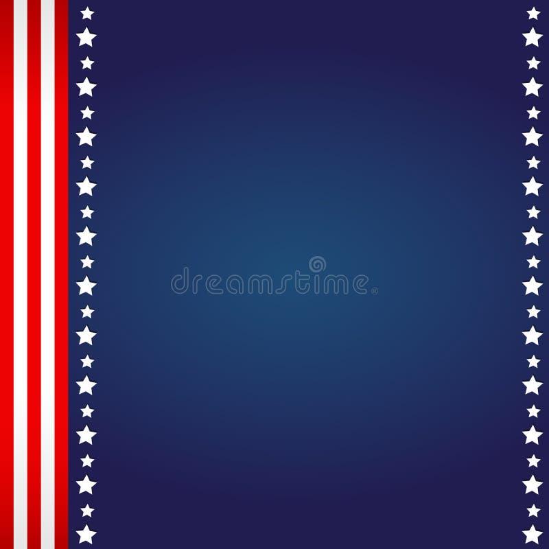 美国国旗背景 库存例证