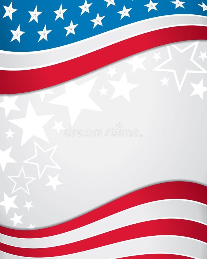 美国国旗背景 向量例证