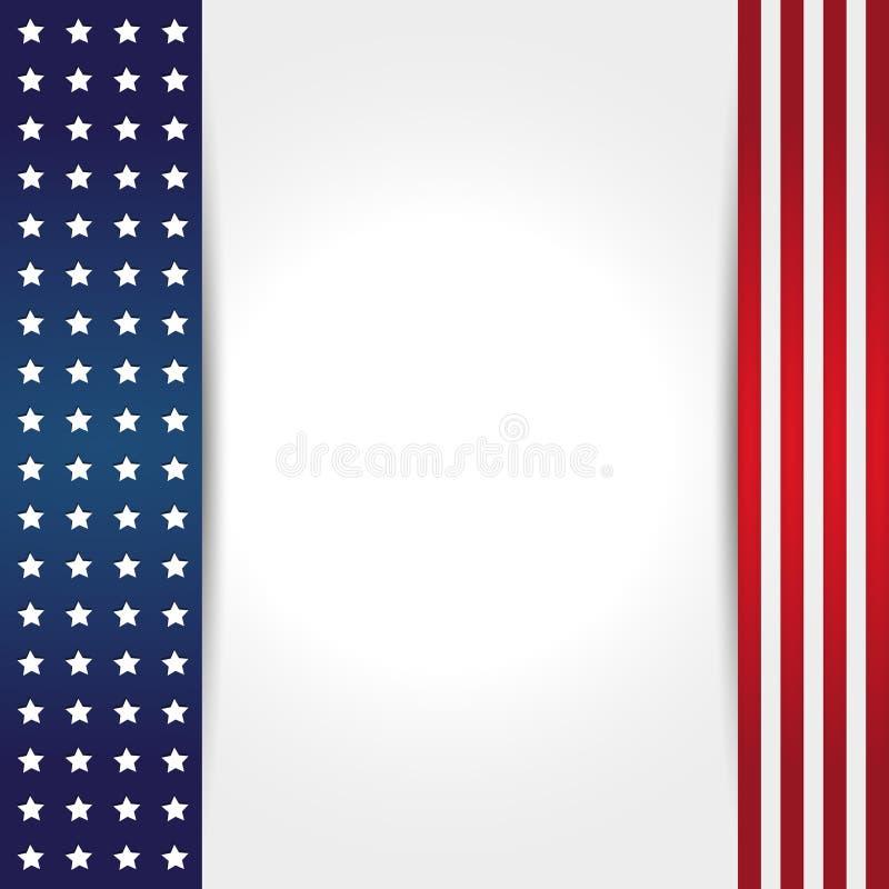 美国国旗背景 皇族释放例证