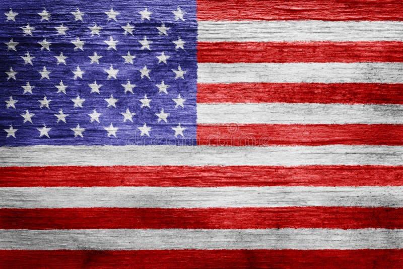 美国国旗背景 免版税库存照片