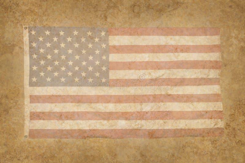美国国旗脏的呈杂色的纹理 免版税图库摄影