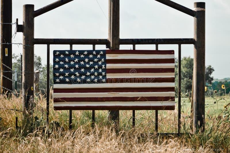 美国国旗艺术 库存照片