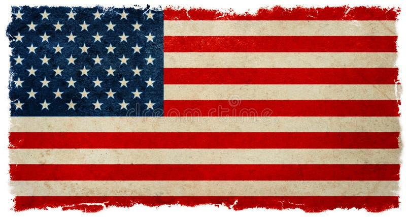 美国国旗葡萄酒 难看的东西横幅背景选举结果 免版税库存照片