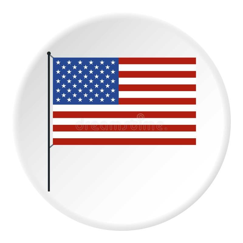美国国旗象,平的样式 向量例证