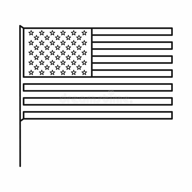 美国国旗象,概述样式 库存例证