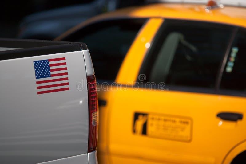 美国国旗贴纸 免版税库存照片