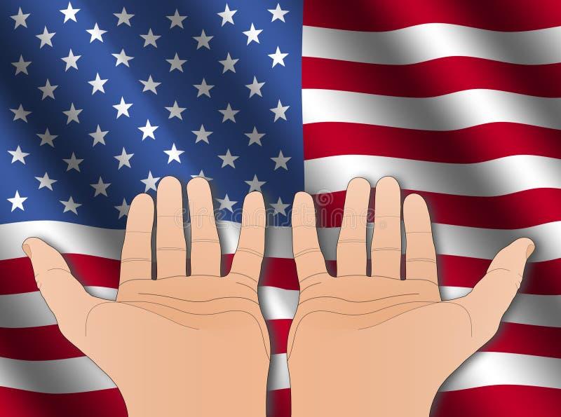 美国国旗递二 皇族释放例证