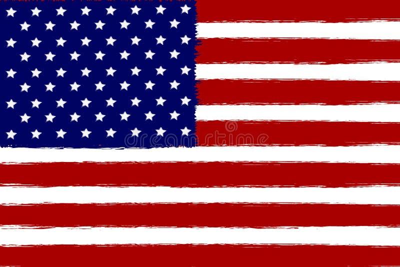 美国国旗,传染媒介例证传染媒介背景 皇族释放例证