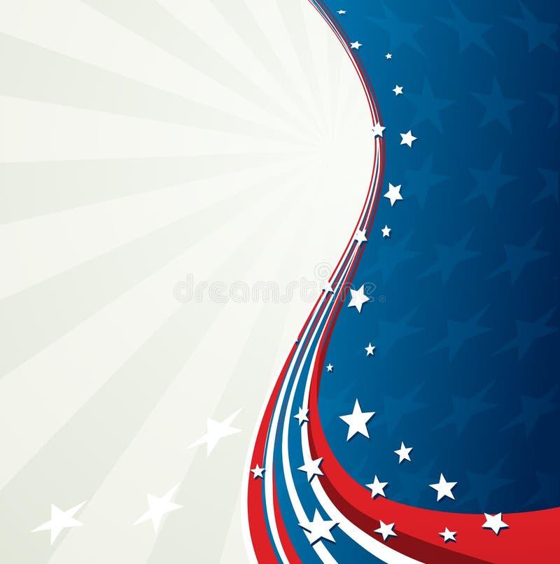 美国国旗,导航爱国背景 皇族释放例证