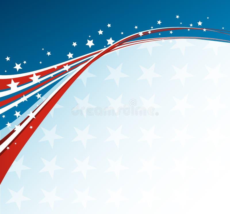 美国国旗,导航爱国背景 库存例证