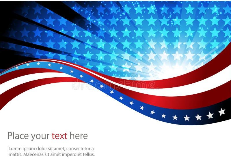 美国国旗,抽象背景  皇族释放例证