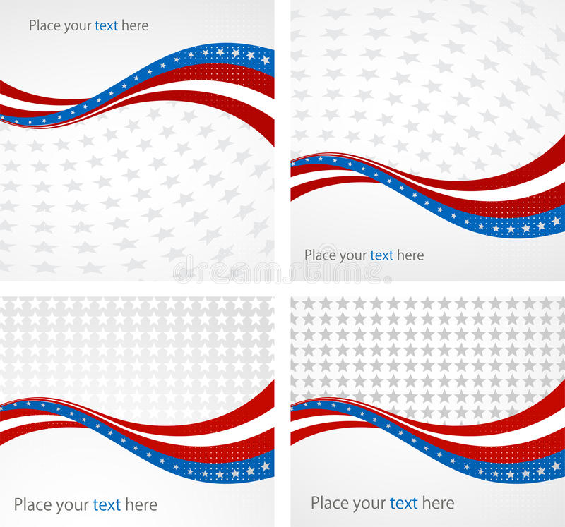 美国国旗,独立的传染媒介背景 向量例证