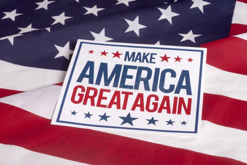 美国国旗-再使美国伟大 免版税图库摄影