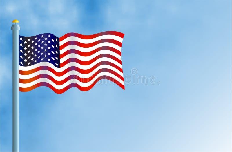 Download 美国国旗 库存例证. 插画 包括有 红色, 停止, 大使, 旗杆, 状态, 爱国, 钞票, 团结, 身分, 空白 - 62098
