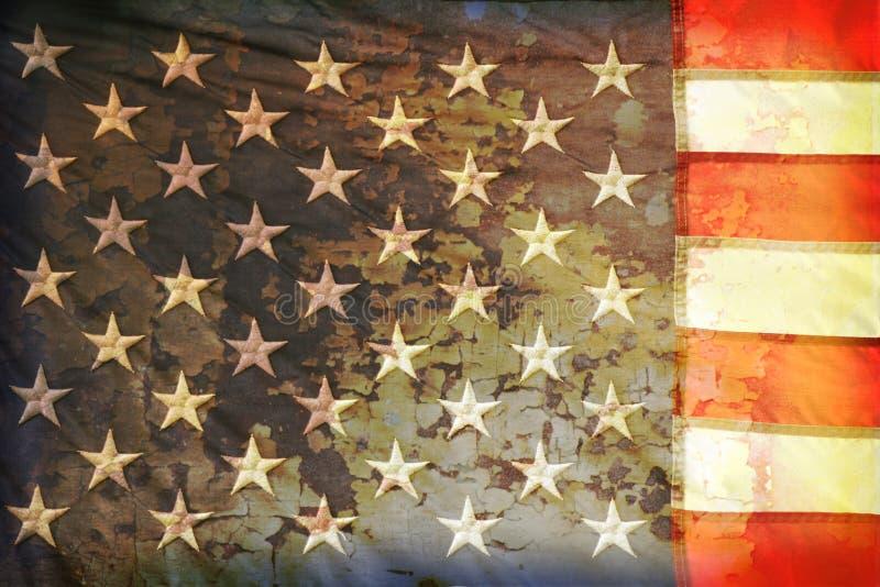 美国国旗grunge 免版税库存图片