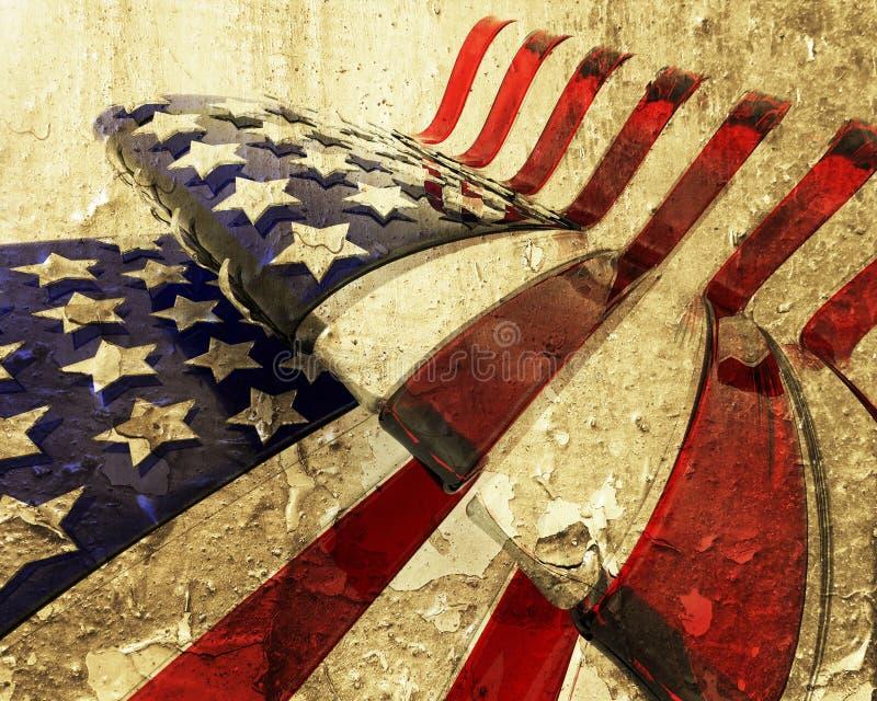 美国国旗grunge 库存例证