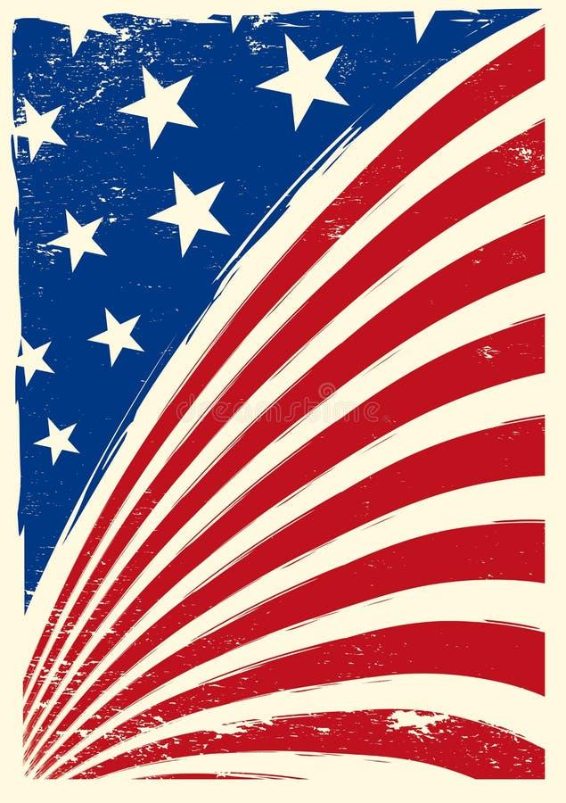 美国国旗grunge 皇族释放例证