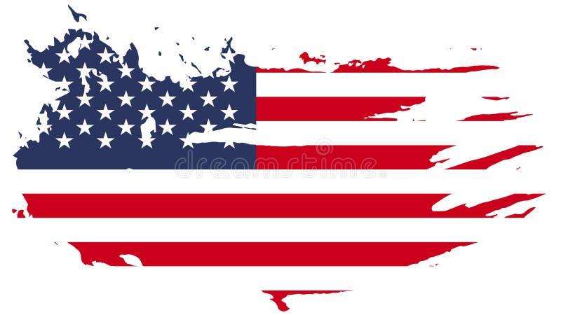 美国国旗grunge 3d标志美国 免版税库存图片