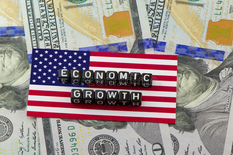 美国国民生产总值经济增长  库存图片