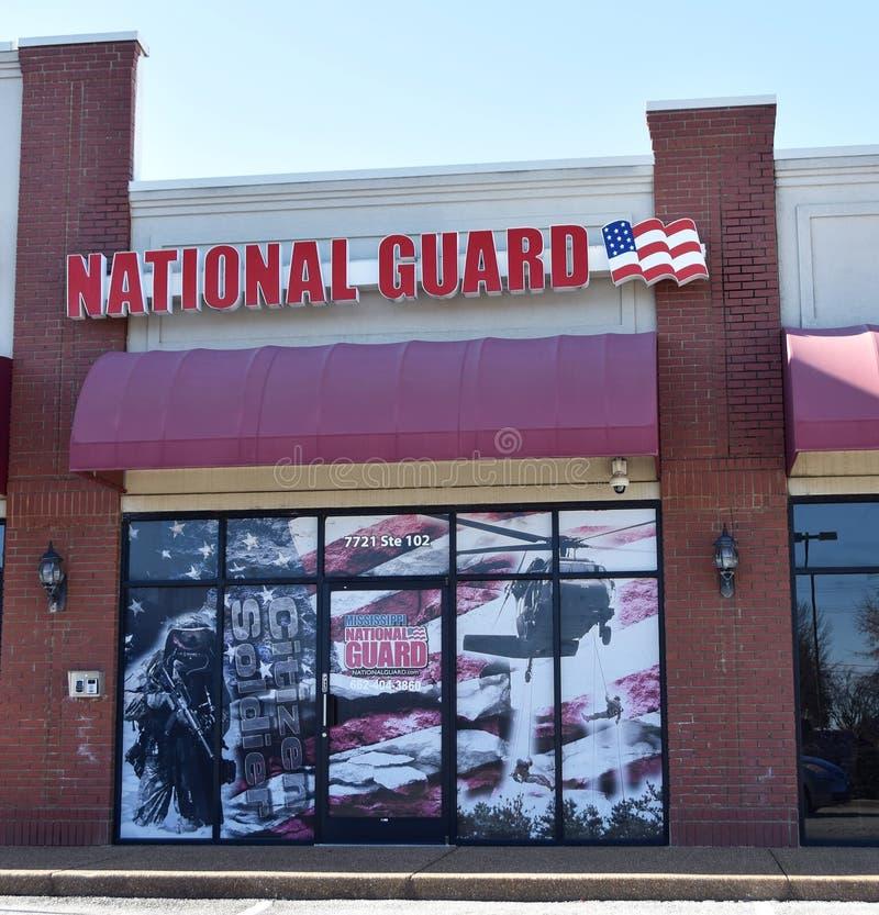 美国国民警卫队军事预备军 免版税库存图片