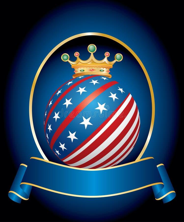 美国国王 库存例证