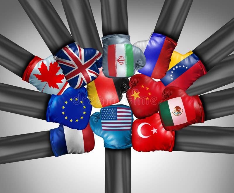 美国国际竞争 向量例证