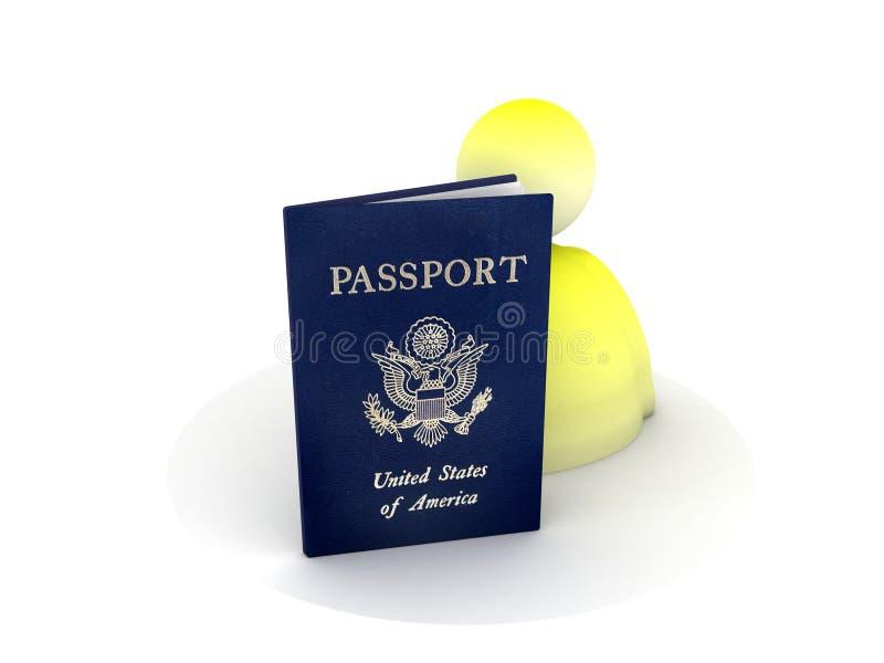 美国图标护照 库存例证