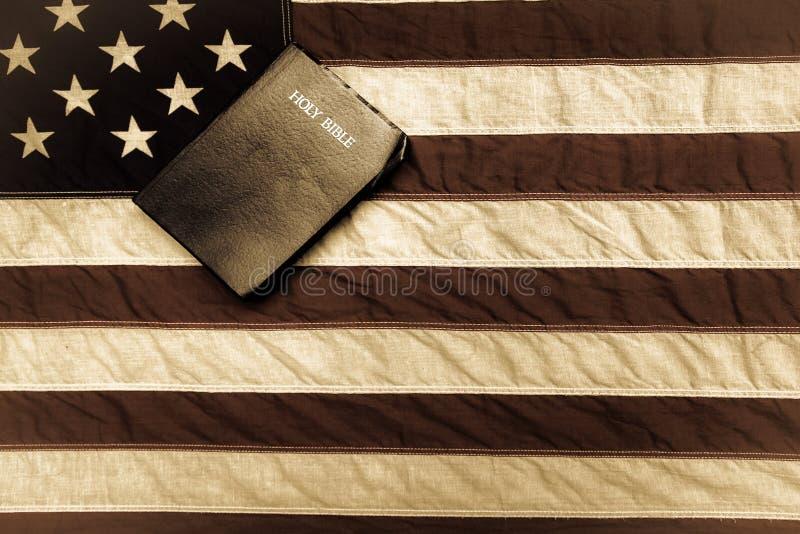 美国圣经标志 库存照片